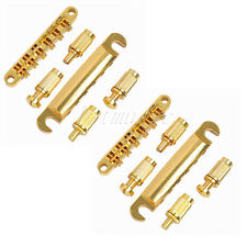 2 Sets Tune-O-Matic ABR-1 Bridge Tailpiece for Guitar Parts Replacement Gold