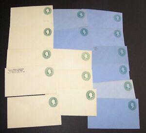 U.S. #U164, 166 Mint Entires (x8 ea) - 3c Green