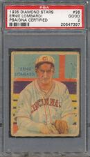 1935 Diamond Stars #36 Ernie Lombardi PSA/DNA Certified Authentic Auto *7397