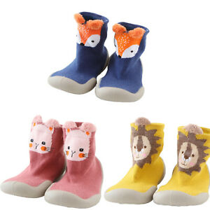 HOWELL Baby Toddler Winter Warm Sock Shoes Anti Slip Thick Knee High Cotton Sock Indoor Floor Moccasins for Boys /& Girls