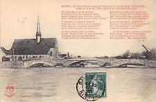 CPA 89 SENS LE VIEUX PONT PENDANT L'INONDATION 1910