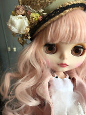"""12"""" Blythe Nude Doll from Factory Matte Face Joints Body Pink Wave Hair JSK05"""