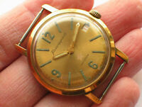 Early soviet VOSTOK Komandirskie Military watch Golden dial. ZAKAZ MO USSR