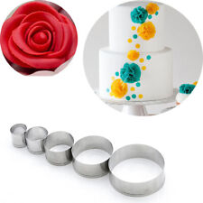 5Pcs DIY Round Polymer Clay Cutter Molds Pottery Ceramic Cutting Mould TNA