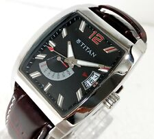 Titan India Quartz Multi Function Day Date Black Dial Steel Case Mens Watch 34MM