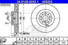1X BRAKE DISC ATE - TEVES 24.0128-0253.1