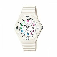 Ladies Casio White Rubber Color Numbers Dial Divers Date Sport Watch LRW200H-7B