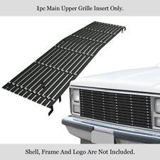 Fits Chevy C/K Pickup/Suburban/Blazer Main Upper Black Phat Billet Grille Insert