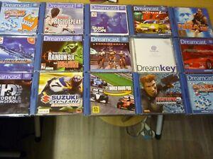 Sega Dreamcast Sammlung 15 Spiele Top Zustand PAL Funktionsgeprüft OVP CIB
