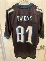Philadelphia Eagles Terrell Owens #81 Black Reebok Jersey Men's Medium