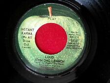 JOHN ONO LENNON~INSTANT KARMA~NEAR MINT~APPLE~WHO HAS SEEN THE WIND~~ POP 45