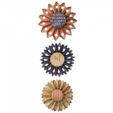 Tim Holtz Sizzix Thinlits Die ~ ROSETTE SET ~ Alterations 662691