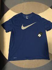 Nike Mens Drifit Blue Tshirt 3Xl Brand New Swoosh Training
