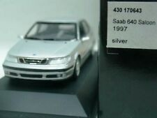 WOW EXTREMELY RARE Saab 9-5 2.3T Saloon 1997 Silver 1:43 Minichamps/9-3/SE/Spark