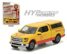 GREENLIGHT 1:64 2016 FORD F-150 WITH CAMPER SHELL DIE-CAST YELLOW 41030-E