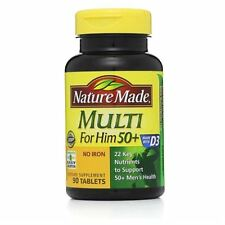 Nature Made Multi for Him 50+ Dietary Supplement Tablets 90 ea