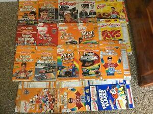 18 Boxes Jeff Gordon Kelloggs Cereal Frosted Mini Wheats Eggo Corn Flakes NASCAR