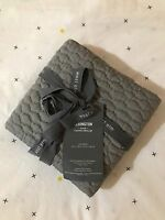 NEW West Elm Lexington Coverlet Quilted Standard & King Shams - Feather Gray
