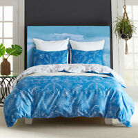 Reversible Luxury Leaves Bedding Set Duvet Cover Pillowcase Quilt Cover Bed Sets