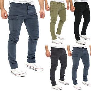 Yazubi Herren Cargohose Jayden Strech Cargo Chino Hose by YZB Jeans Slim-Fit