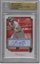 2008 Chris Marrero Rookie Autograph LIMITED GLOSSY Auto RC BGS 1/1