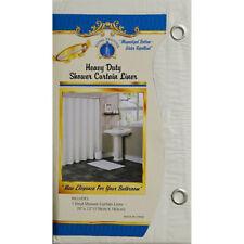 1pc SOLID BEIGE BATHROOM VINYL PLASTIC SHOWER CURTAIN LINER WITH METAL GROMMET