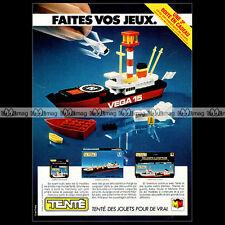 TENTE Jouet Miro-Meccano MARINE Vega 15 1980 - Pub Publicité / Advert Ad #A1005