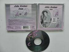 CD JOHN GREINER From A to B    JGA 0017   NOT FOR SALE PROMO