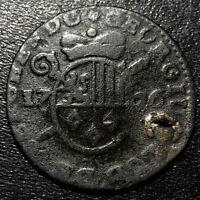 1726 Belgium Liege Georges-Louis de Berghes Liard Rare Feudal Coin
