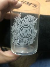 Pabst Beer Etched Glass Brewing Pre Pro Old Vintage Antique Beer Advertising
