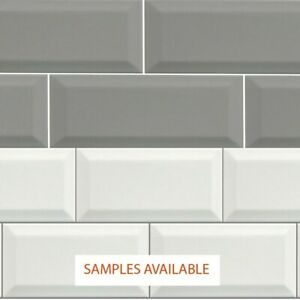 Metrolite Underground Subway Beveled Brick Effect Ceramic Wall Tile Box 44 Tiles