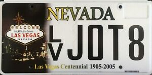 USA Number Licence Plate NEVADA LAS VEGAS CENTENNIAL 1905-2005 FLAT