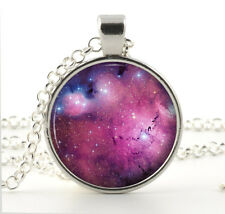 Magenta Nebula Necklace - Galaxy Jewelry - Unique Gifts for Her - Universe Charm