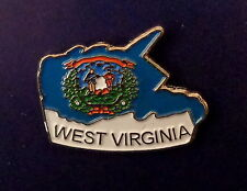 West Virginia State Shaped Map Lapel Pin WV