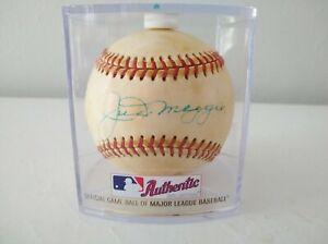 Joe Dimaggio Signed Autographed OAA Baseball HOF 1955 - Clear Rawlings Case