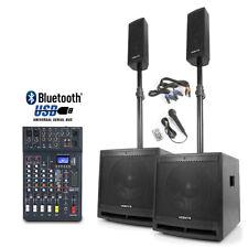 Active Bluetooth DJ Speakers Subwoofer System Studiomaster Club XS6 Mixer 1000W