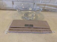 Vintage Steuben Crystal Art Glass Centerpiece Bowl Swirl Decorative Base Signed