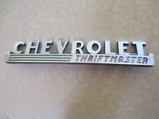 Original 1940s Chevrolet Thriftmaster truck badge