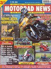 MN9807 + Test YAMAHA FZS 600 Fazer + HONDA CB 400 Four + MOTORRAD NEWS 7/1998