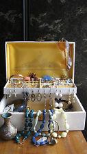 Vintage Jewellery Box  Mixed Lot Buxton 50s 60s 70s Hippie Boho Bombshell