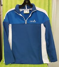 2010 XXI Olympic Winter Games Vancouver Canada Track Jacket - XS Women's Blue