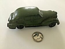 VTG AUBURN RUBBER CO. TOY CAR 1930'S PLYMOUTH USA OD ARMY GREEN VINTAGE 4 DOOR A