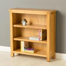 Poldark Oak Small Bookcase / Light Oak Low Bookcase with Adjustable Shelves