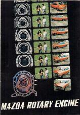 Mazda Rotary Engine 1971-72 UK & USA Market Sales Brochure RX-2 RX-3
