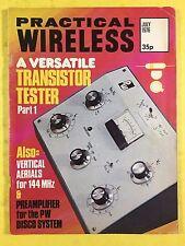 PRACTICAL WIRELESS Magazine - July 1976 - Versatile Transistor Tester - Pre-Amp