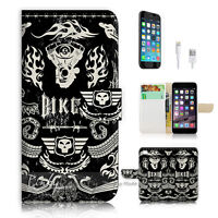 ( For iPhone 6 / 6S ) Wallet Case Cover P0678 Biker Icon