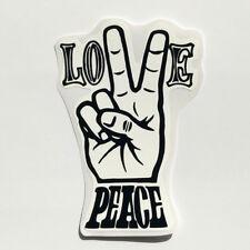 Love Peace Sticker Vinyl Decal Rat Fink Ed Roth Hot Rod Car Bike Bumper Drag BMX