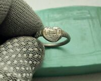 Rare Perfect Antique Ancient Silver Ring US-8 jewelry 13th-17th Century AD  #170