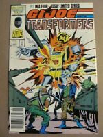 GI Joe and the Transformers #1 2 3 4 Complete Marvel 1987 Series Newsstand