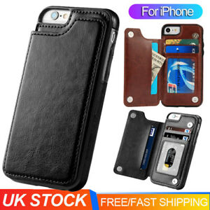 Card Holder Case For iPhone 11 Pro Max 7 8 XR 6S 5 Leather Wallet iPhone Cover